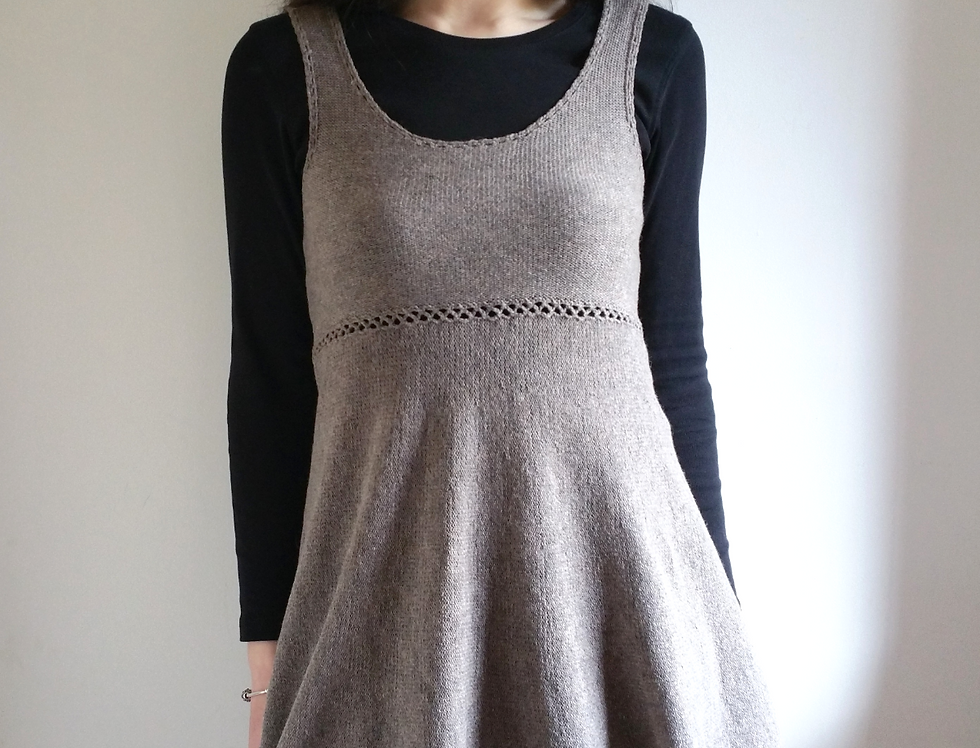 Forest maiden tunic dress, Wood