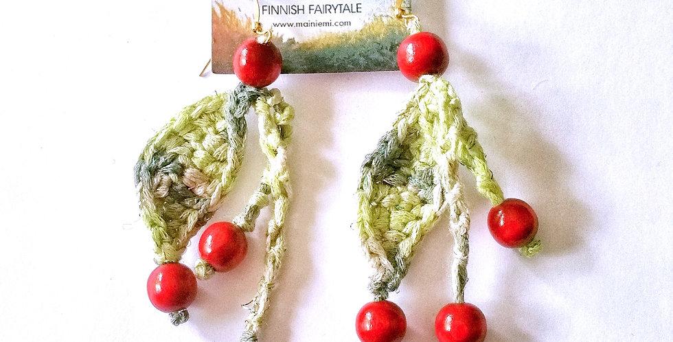Berry earrings, green
