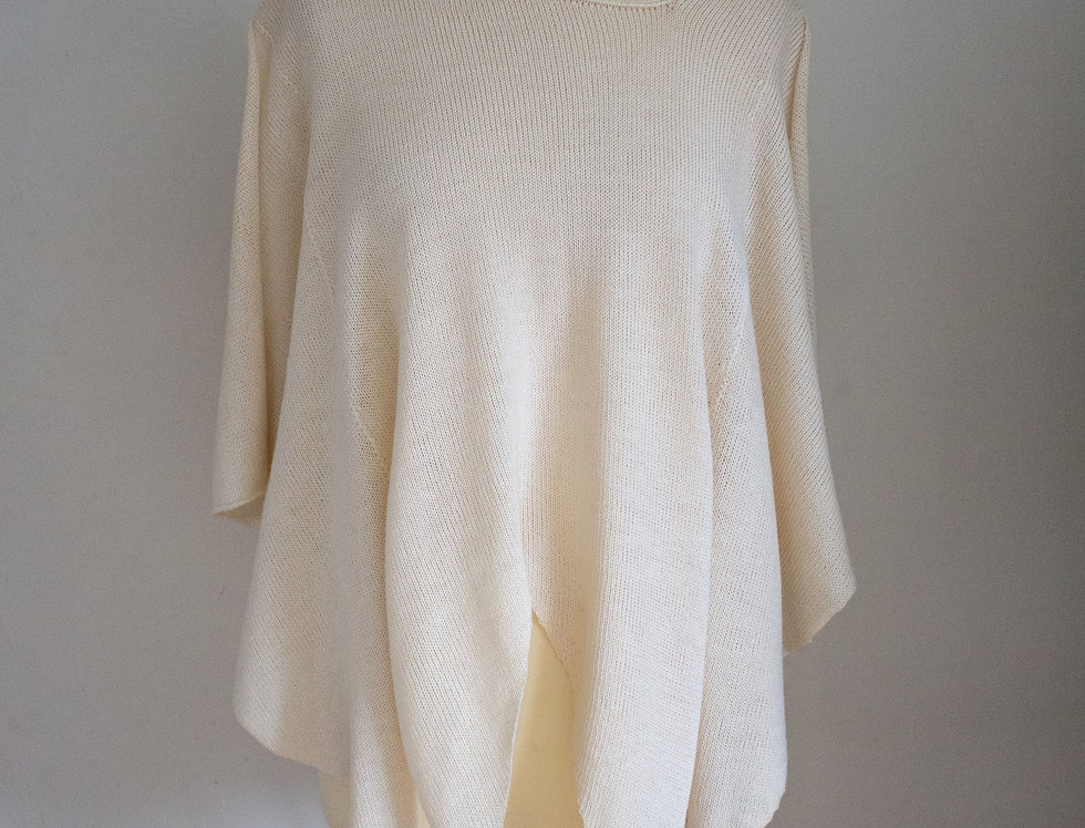 white knitted multiponcho
