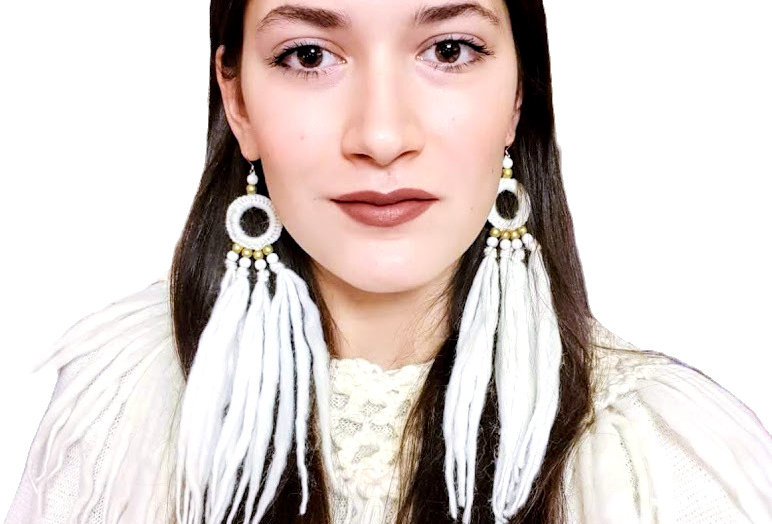 WoodO earrings (White)