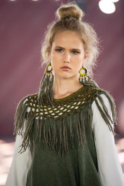 WoodO earrings (green)