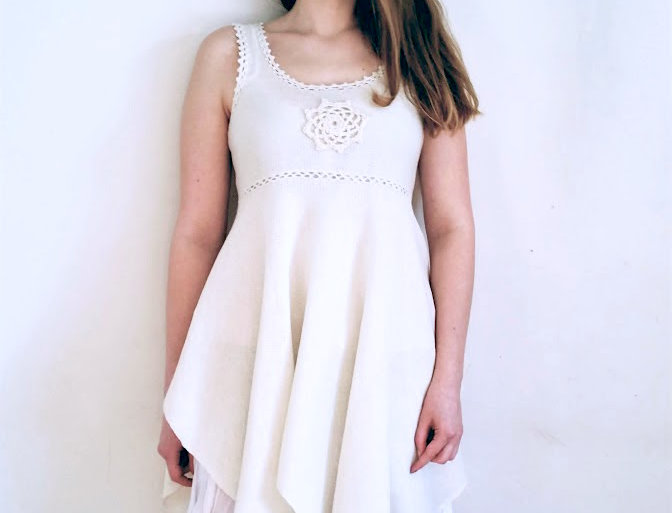 North maiden dress (white)