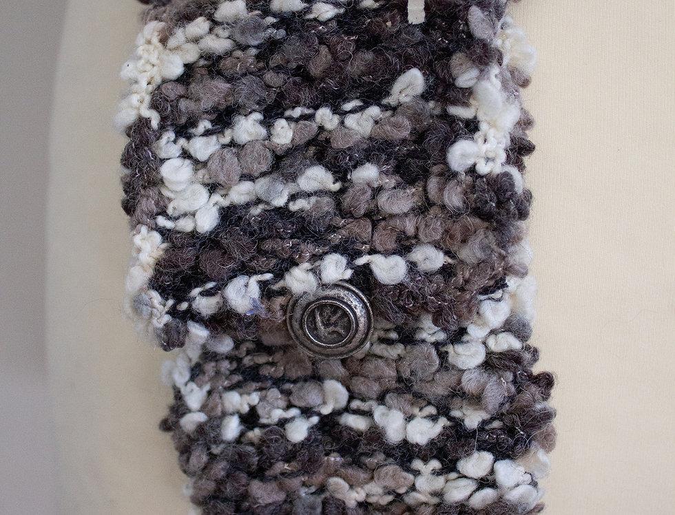 light pink soft crocheted fairy bag