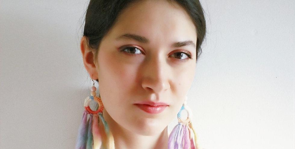 Nordic Light earrings (unicorn)