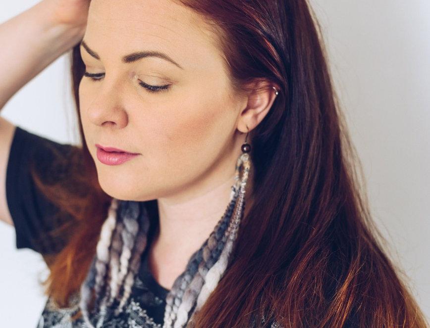 Nordic Light earrings (bark)
