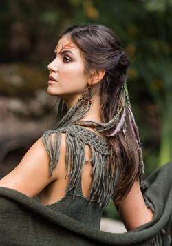 Dragon hair clip green