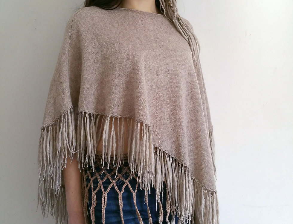 cobble knitted dervish poncho