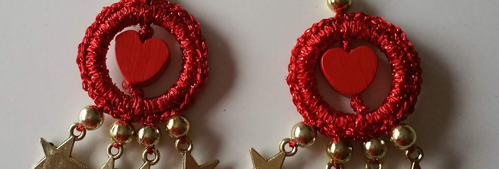 love earrings, christmas