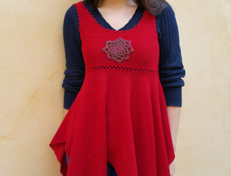 North maiden dress (Red)