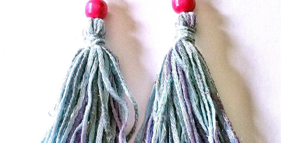 Tossel earrings, turquoise