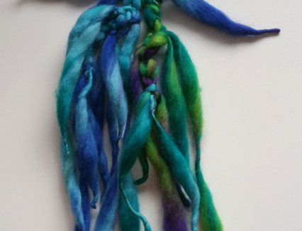 Blue coloured crocheted City Shaman hairband