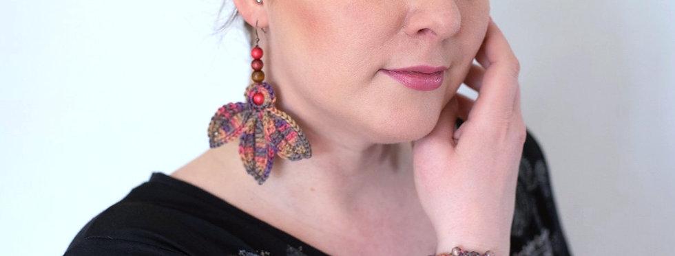 Fairy wings earrings,  nocturne