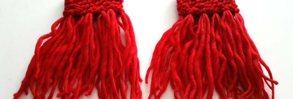 fire crocheted tribal fringe bracalets