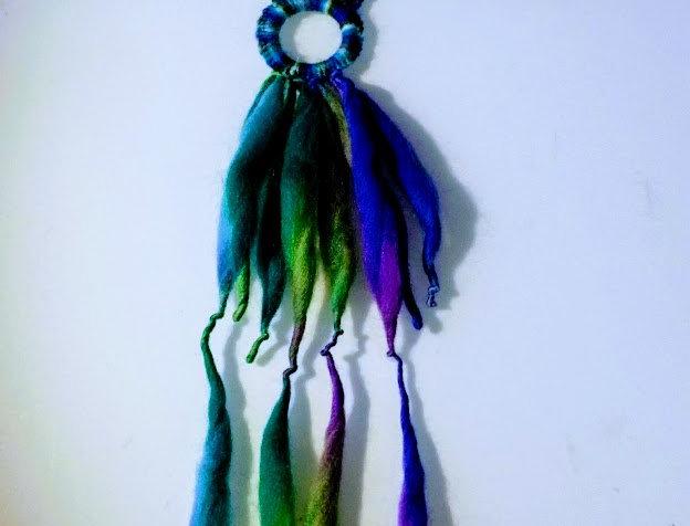 blue nordic light fringe pendant