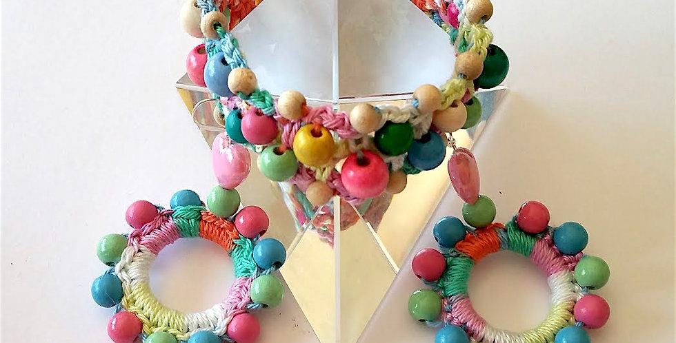 Sunflower jewelry set, pastel