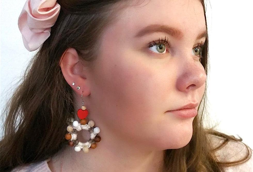MerryGoRound earrings, sandcastle