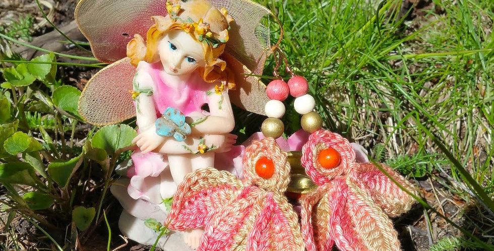 Fairy wings earrings, sunset