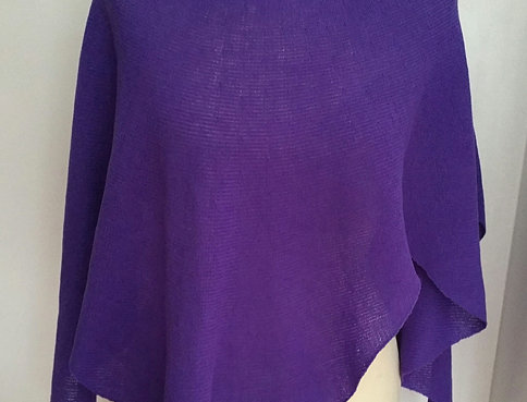 Violet knitted Diamond wings poncho