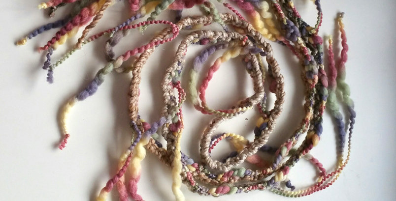 Seashell coloured crocheted City Shaman garland