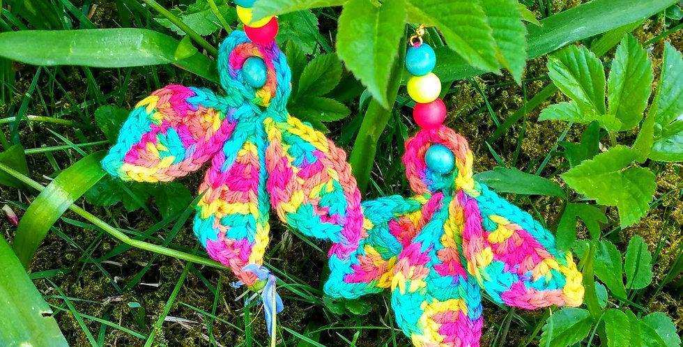 Fairy wings earrings, rainbow