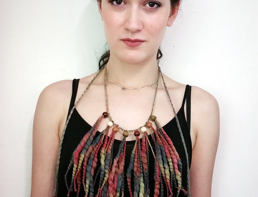 """""""Wood O"""" Necklace, Forest"""