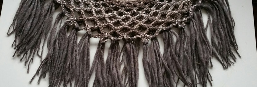 bark crocheted sunflower lace collar