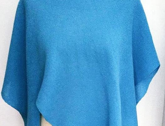 """Diamond Wings"" shawl (turquoise)"