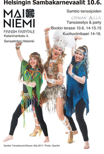 Welcome to Helsinki Samba Carneval June 10th 2017! The theme is OTAVAN ALLA celebrating Finland 100t