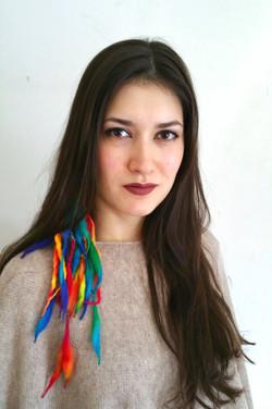 Dragon hair clips (Aurora)