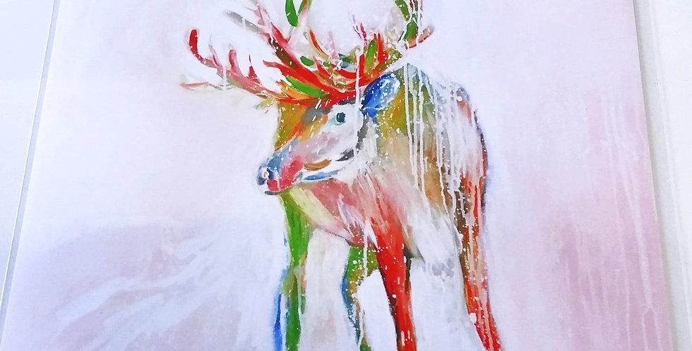 Magic reindeer print