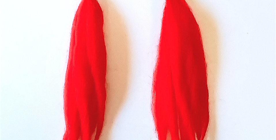 Christmas earrings, red