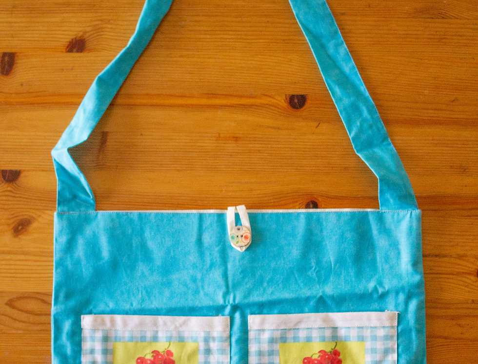 cupcake print reusable shopping bag front