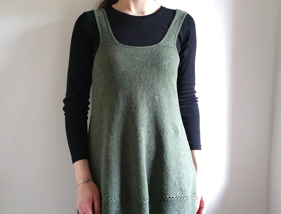 Forest maiden dress, Forest green