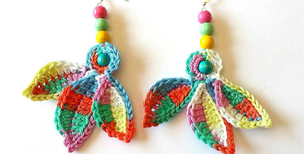 Fairy wings earrings, pastel