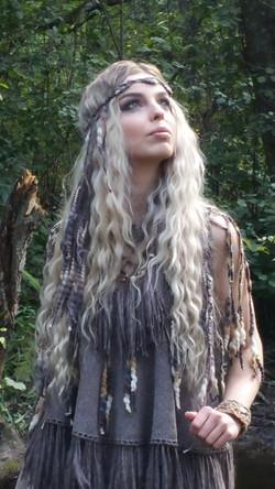 Dragon hair clip grey