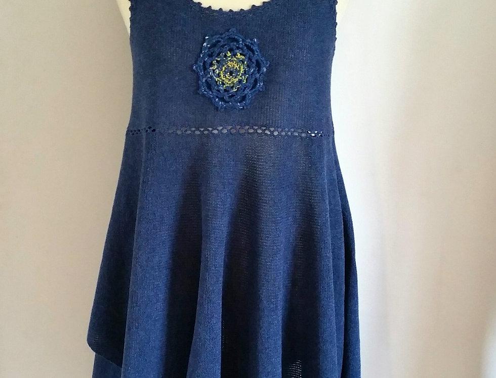 North maiden dress (navy)