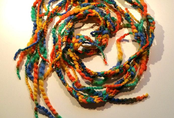 Bird of paradise coloured crocheted City Shaman garland