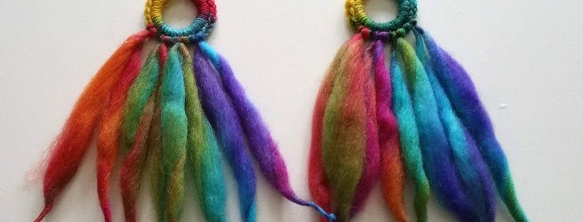 Nordic Light earrings (Fairy mist)