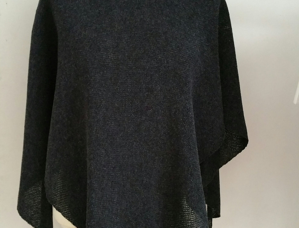 Black knitted Diamond wings poncho