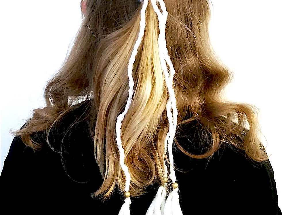 Dragon Braid Hair band (White)