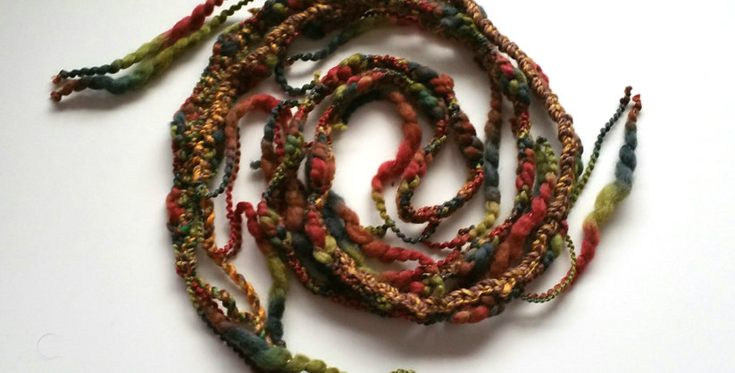 Magic forest coloured crocheted City Shaman garland