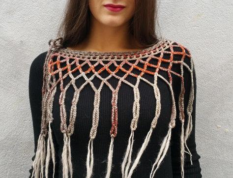 bark crocheted lace louhi web