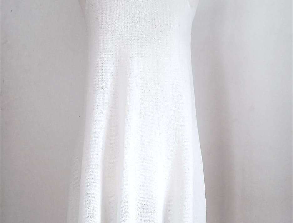 Nordic Amazon fringe dress (White)