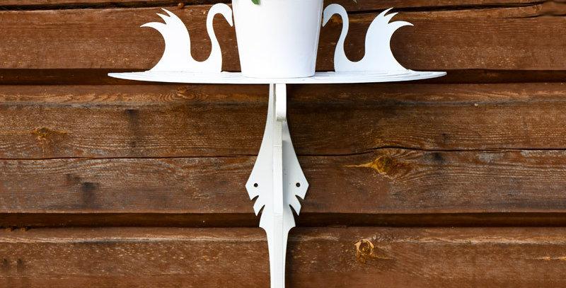 Aarni Swan rack & table combo, white