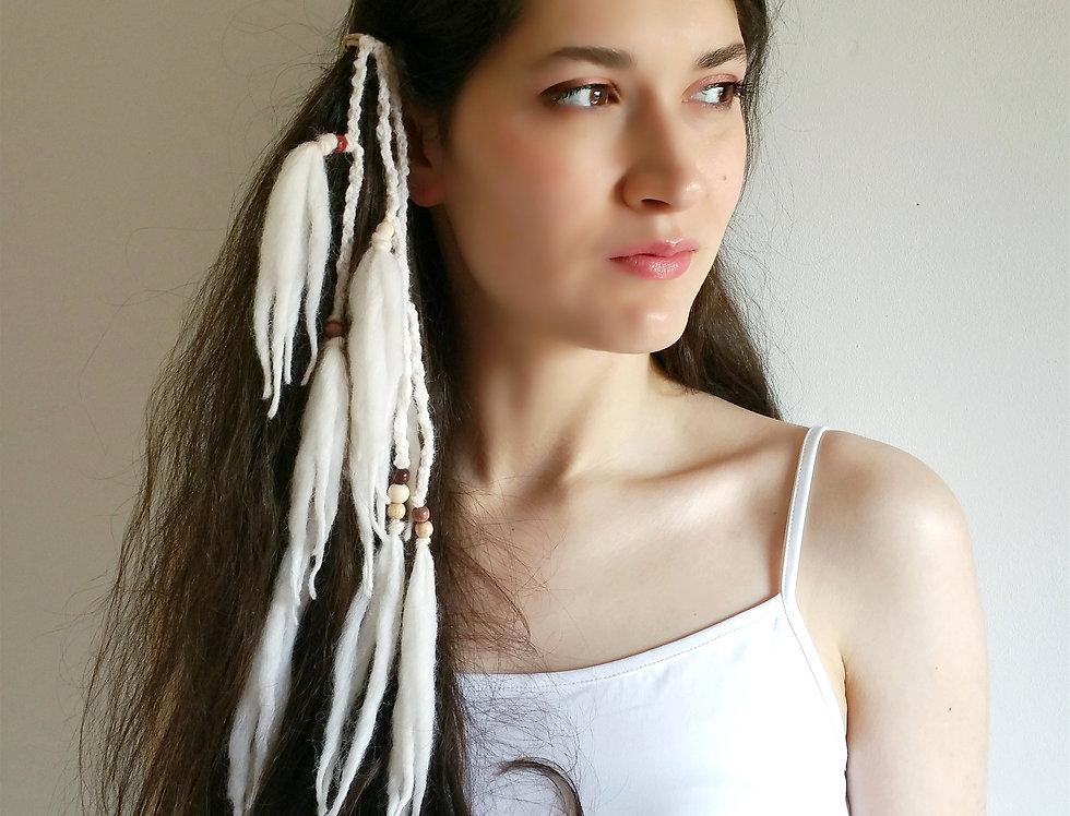 Tribe hairband, white