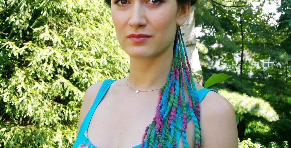 City Shaman rasta hair band, turquoise