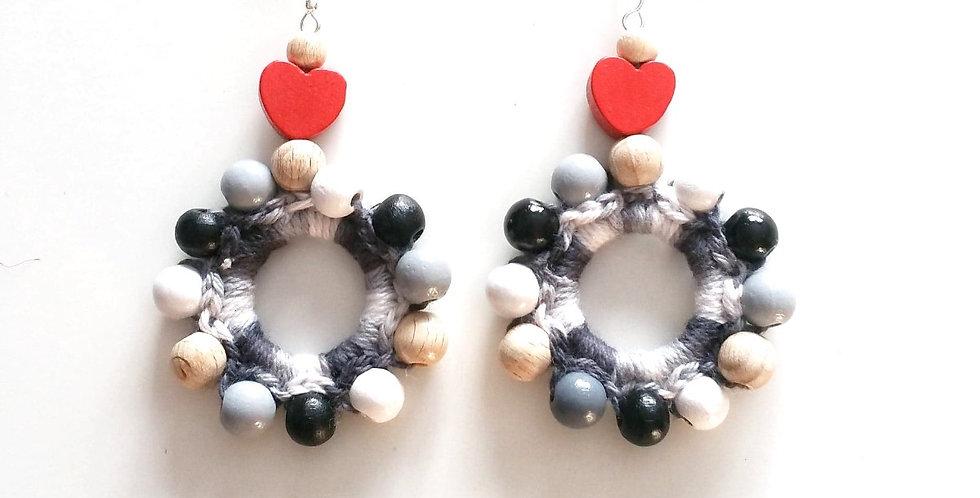 Sampo wheel earrings, North