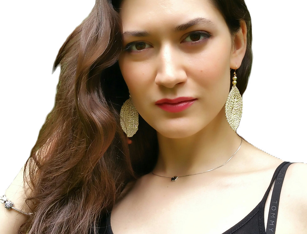 Leaf earrings (gold)