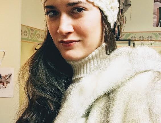 white crocheted magi headband
