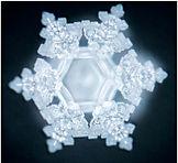 Multidimensional fashion in shape of snowflake